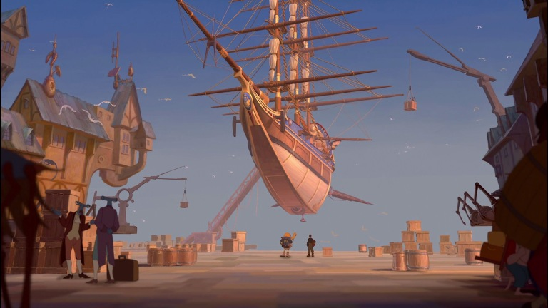 A skyship from the movie Treasure Planet