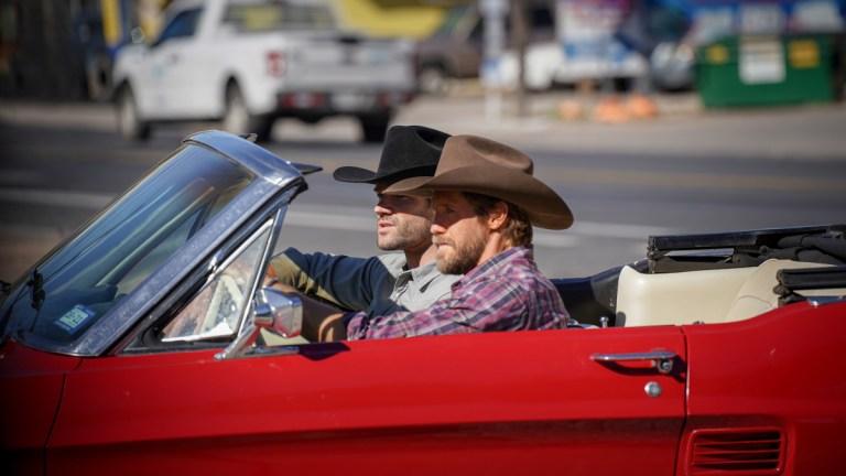 Jared Padalecki as Cordell Walker and Matthew Barr as Hoyt