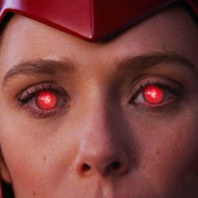 A Closeup Of Elizabeth Olsen As Scarlet Witch In WandaVision