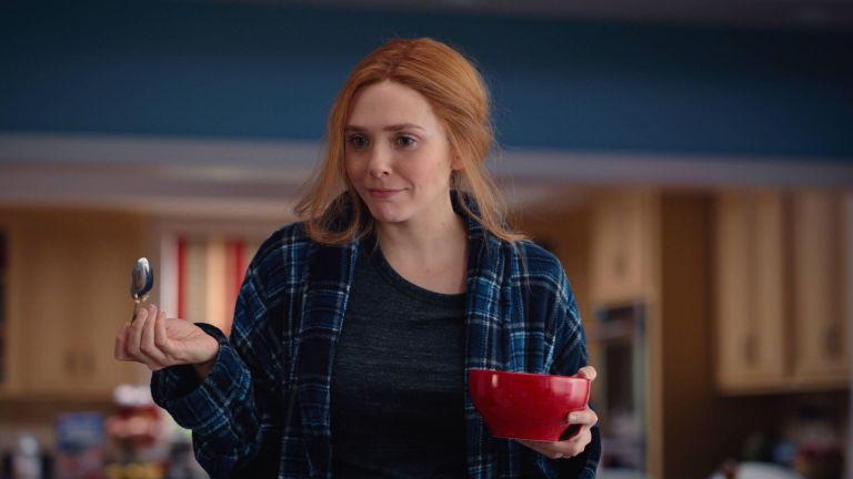 Elizabeth Olsen as Wanda Maximoff in Marvel's WandaVision Episode 7