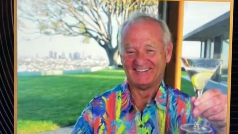Bill Murray at the Golden Globes 2021 Hawaiian Shirt