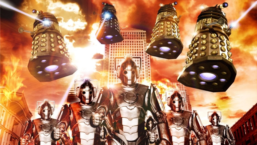 Doctor Who Army of Ghosts Doomsday Cybermen Daleks