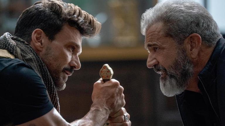 Frank Grillo versus Mel Gibson in Boss Level on Hulu