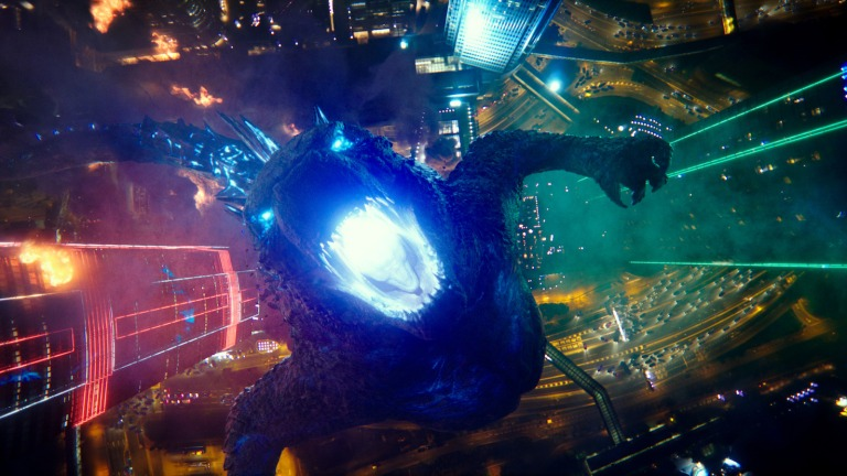 Godzilla Breathes fire in Godzilla vs Kong Ending