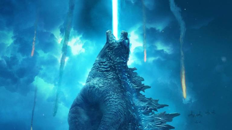 Godzilla firing atomic breath in King of the Monster