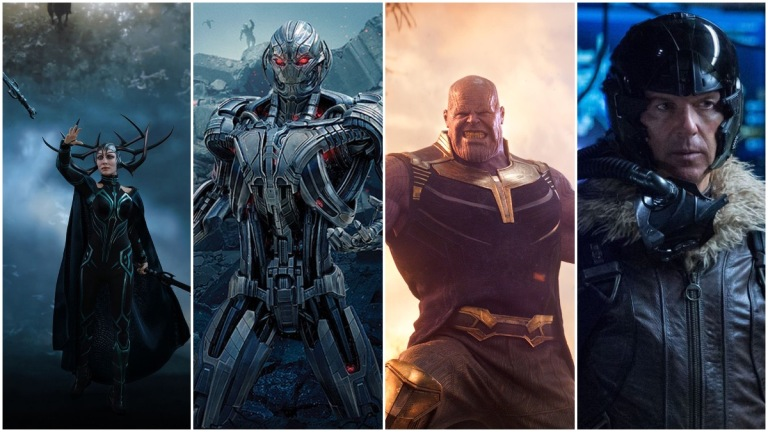 Hela, Ultron, Thanos, and Adrian Toomes