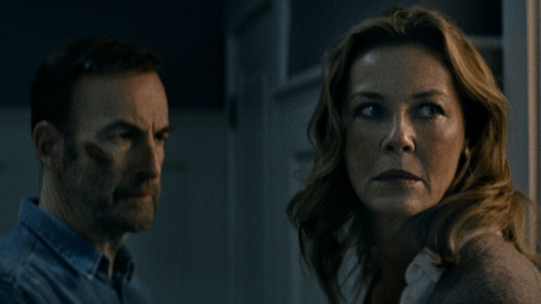 Bob Odenkirk and Connie Nielsen in Nobody