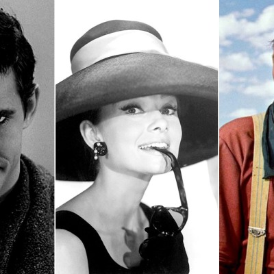 Anthony Perkins in Psycho, Audrey Hepburn in Breakfast at Tiffany's and John Wayne Searchers