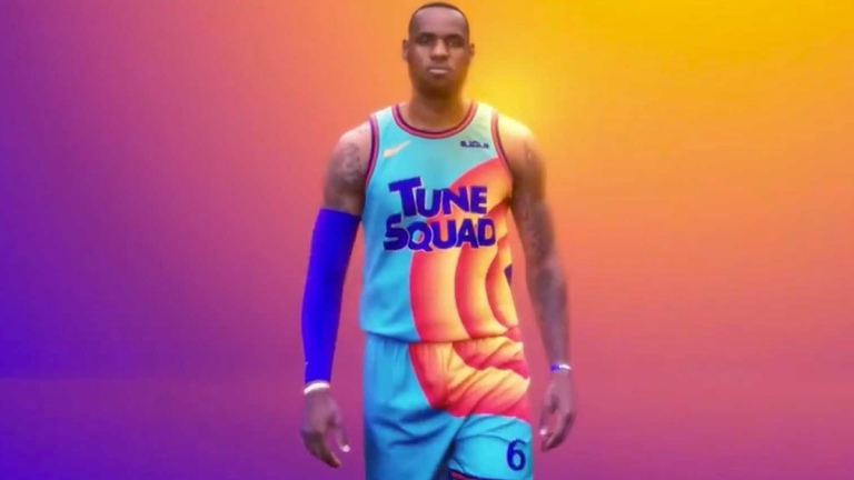 LeBron James in Tune Squad Uniform for Space Jam 2