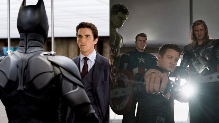 Christian Bale in The Dark Knight and The Avengers Cast