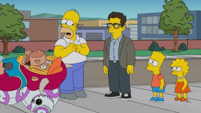 Homer Simpson and JJ Abrams on The Simpsons
