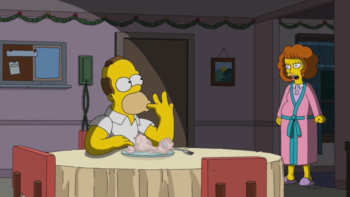 Simpsons Christmas Special 2021 The Simpsons Season 32 Episode 16 Review Manger Things Den Of Geek