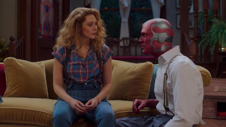 Wanda (Elizabeth Olsen) and Vision (Paul Bettany) in WandaVision