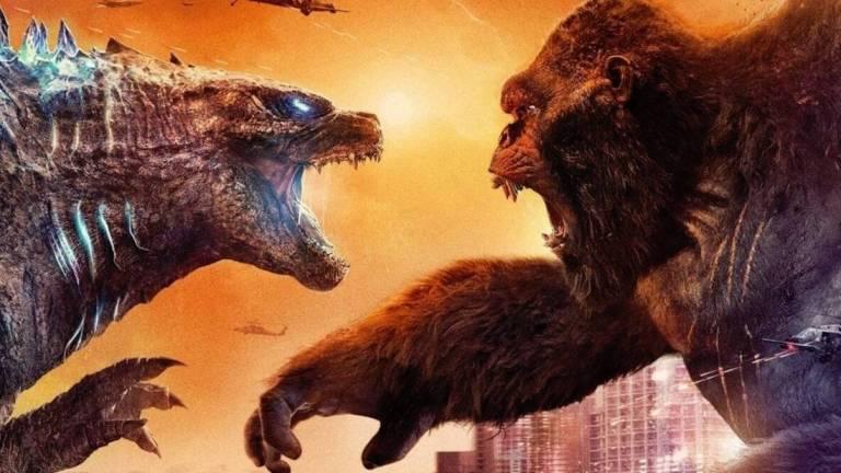 Godzilla stares down King Kong in Godzilla vs Kong Poster