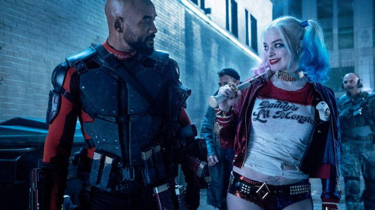Will Smith and Margot Robbie as Harley Quinn in Suicide Squad