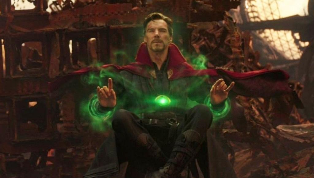 Benedict Cumberbatch como Doctor Strange en Avengers: Infinity War.