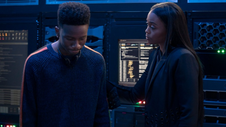 Christopher Ammanuel Darby as TC and Nafessa Williams as Anissa in Black Lightning Season 4, Episode 5
