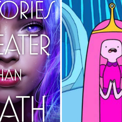 The Cover for Victories Greater Than Death and Princess Bubblegum from Adventure Time