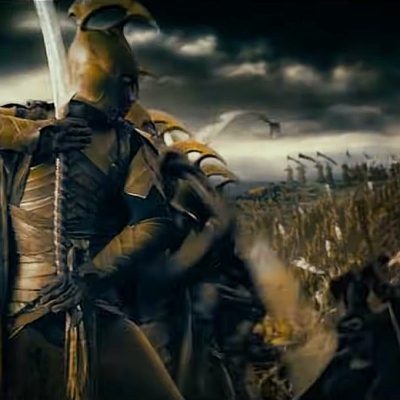 Elven Warriors in The Lord of the Rings: The Fellowship of the Ring prologue.