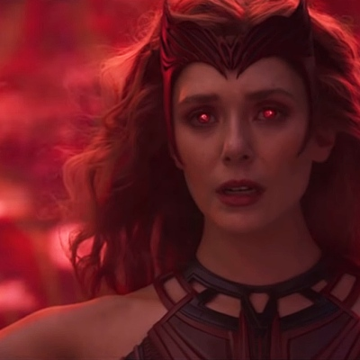 "Elizabeth Olsen as Scarlet Witch on WandaVision, ""The Series Finale."""
