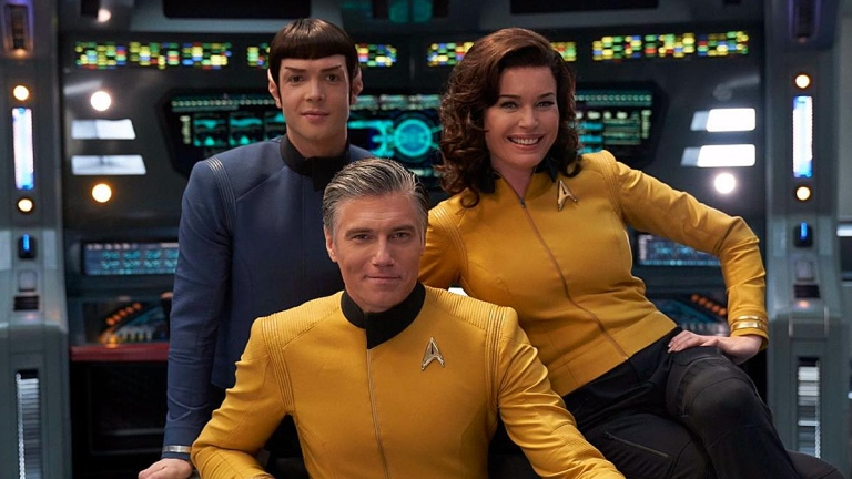 Spock, Pike and Number One on Star Trek: Discovery