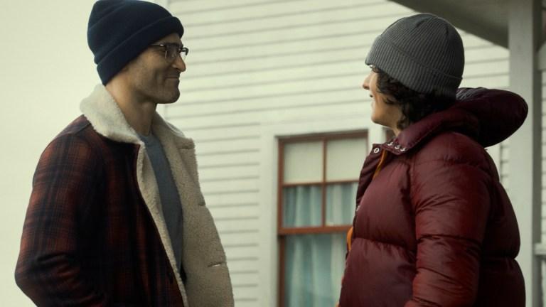 Tyler Hoechlin as Clark Kent and Alexander Garfin as Jordan Kent in Superman & Lois Episode 2