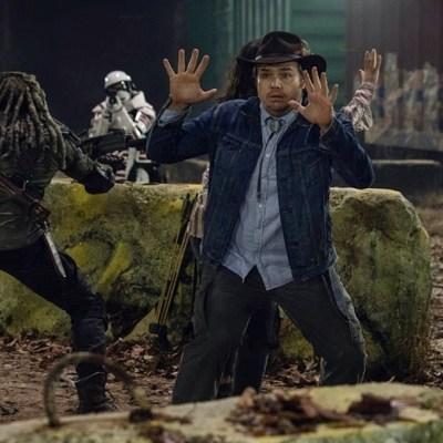 The Walking Dead: Khary Peyton, Josh McDermitt and Paola Lazaro.
