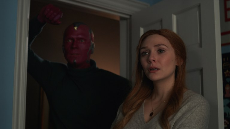 Paul Bettany and Elizabeth Olsen in Marvel's WandaVision Episode 9: The Series Finale