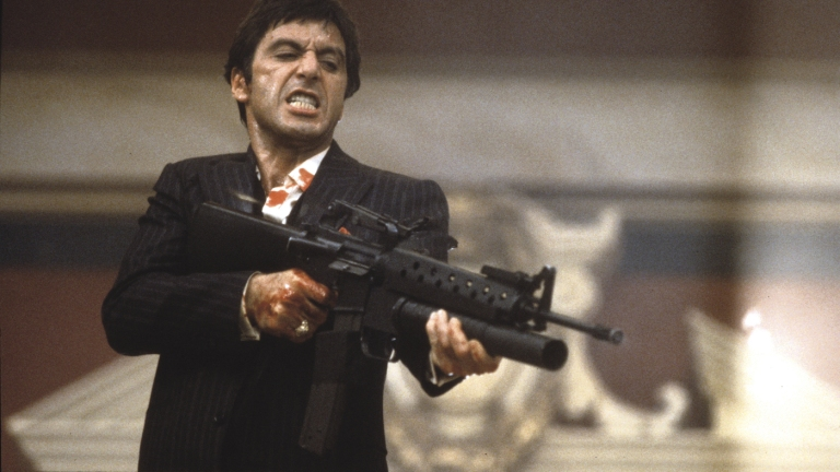 Al Pacino as Tony Montana Dies in Scarface
