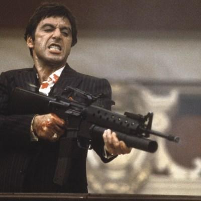 Al Pacino as Tony Montana Dies in Scarface