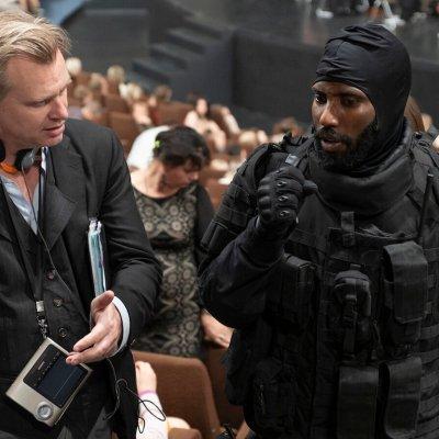 Christopher Nolan and John David Washington Filming Tenet Opening Scene