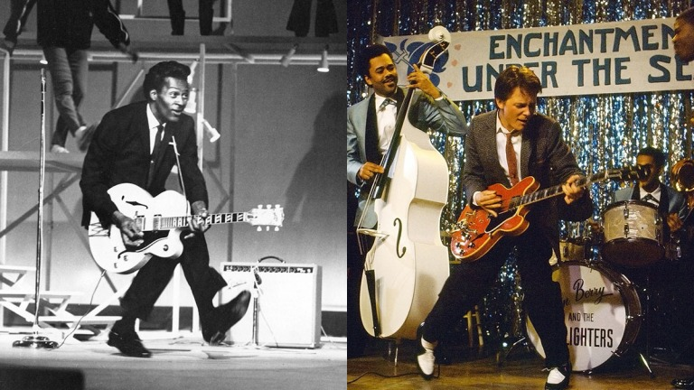 Chuck Berry and Marty McFly in Back to the Future