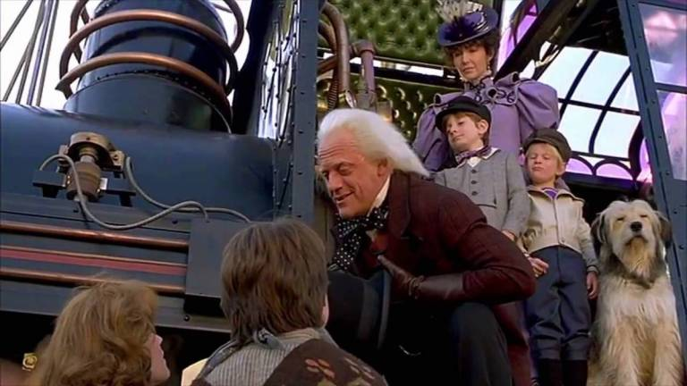Doc Brown and Marty McFly in Back to the Future Part III