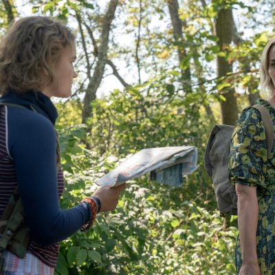 Emily Blunt and Millicent Simmonds in A Quiet Place Part 2