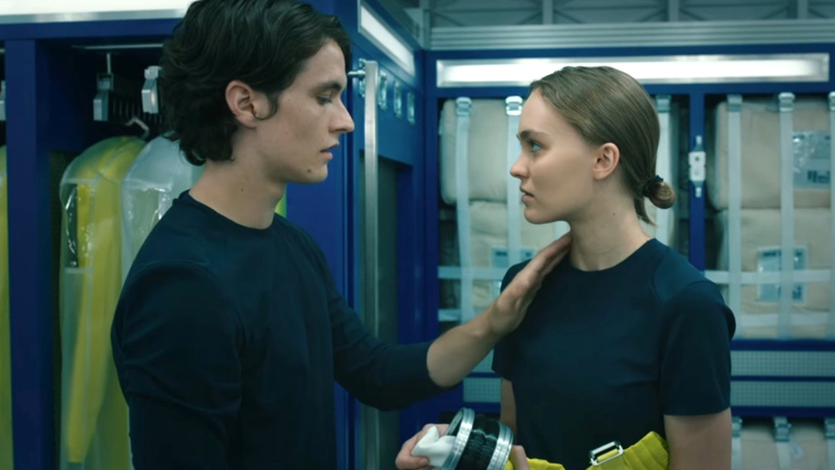 Fionn Whitehead and Lily-Rose Depp in Voyagers