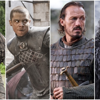 Arya Stark, Grey Worm, Bronn, Jon Snow