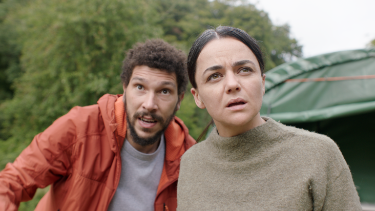 Joel Fry and Hayley Squires in In The Earth