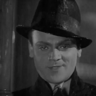 James Cagney in rain in The Public Enemy