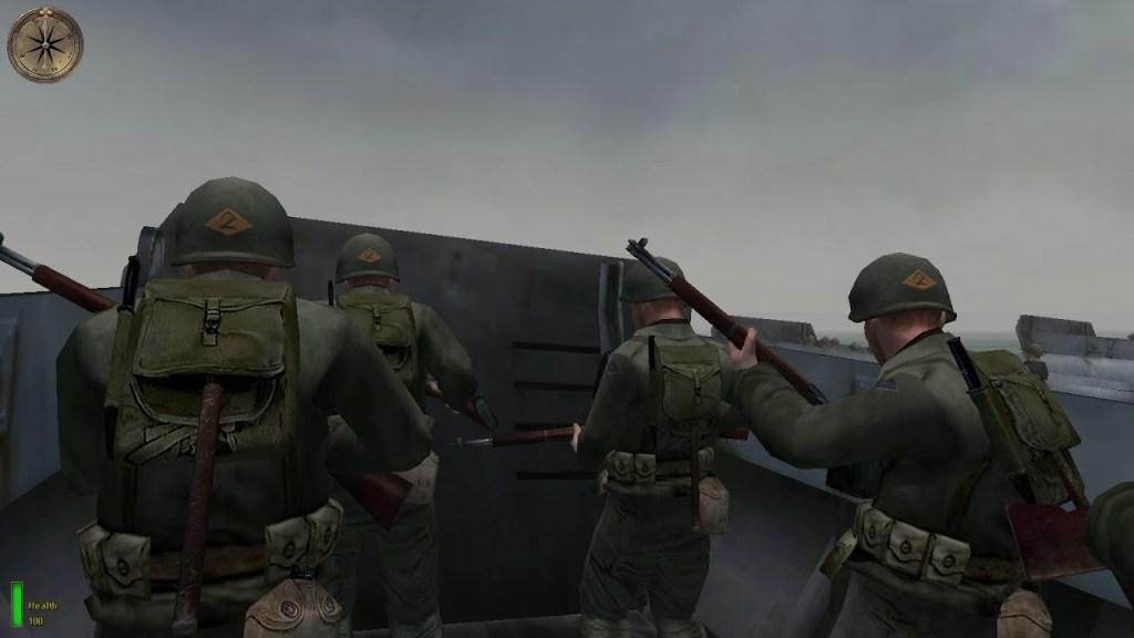 Medal of Honor Allied Assault Beach Scene