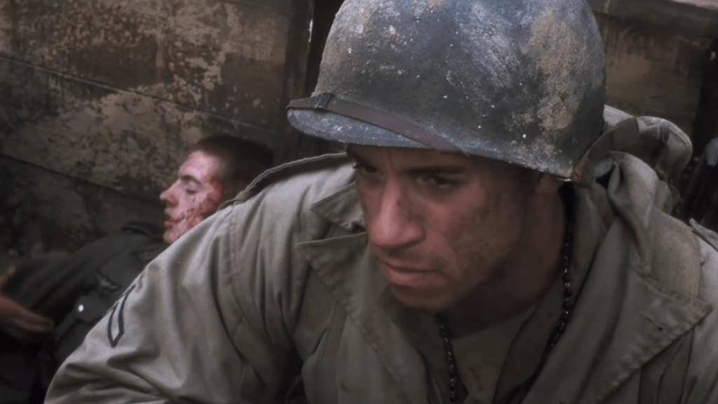 Vin Diesel como Caparzo en el rescate del soldado Ryan