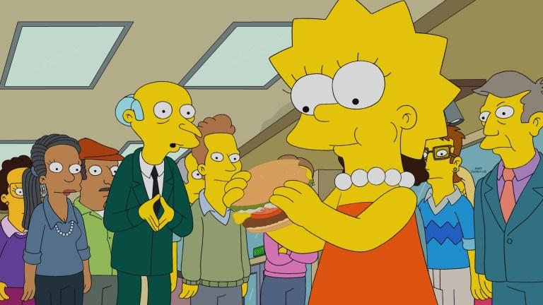 Lisa Simpson in Burger Kings