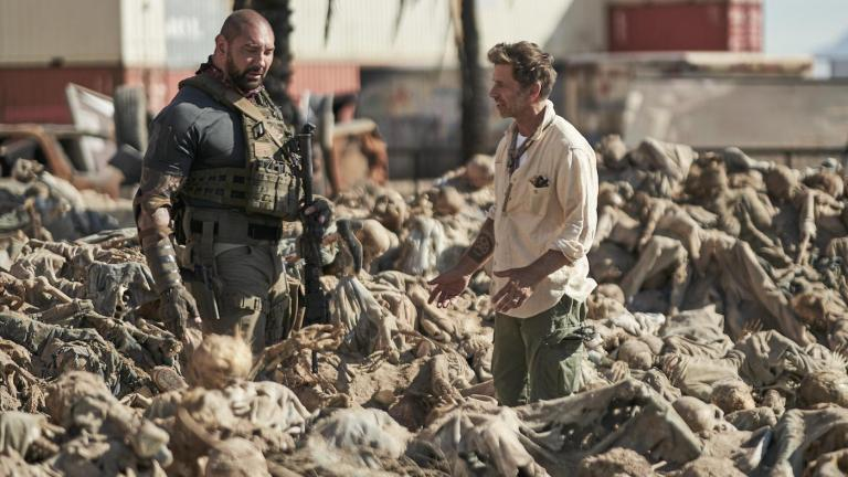 Zack Snyder and Dave Bautista on Army of the Dead Set