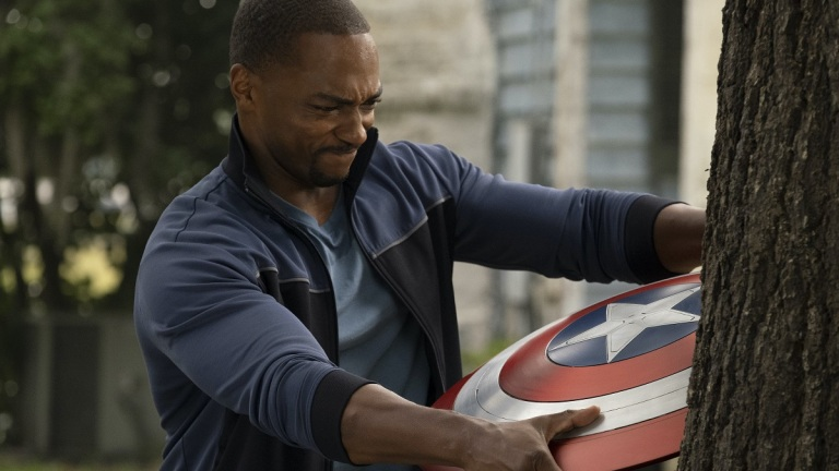 Anthony Mackie as Sam Wilson in Marvel's The Falcon and the Winter Soldier Episode 5