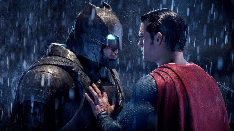 Ben Affleck and Henry Cavill in Batman v Superman: Dawn of Justice