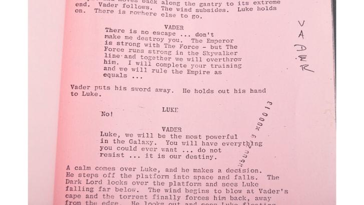 Rare Star Wars Script Protects Empire's Darth Vader Secret