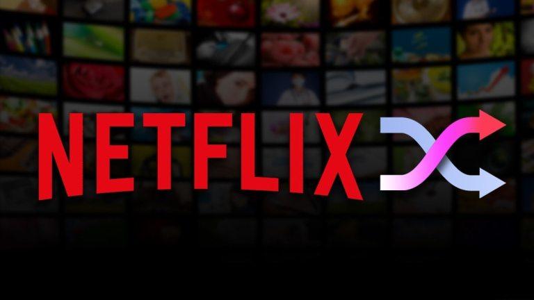 Netflix shuffle button logo