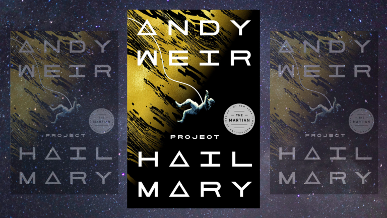 Book cover for Project Hail Mary by Andy Weir