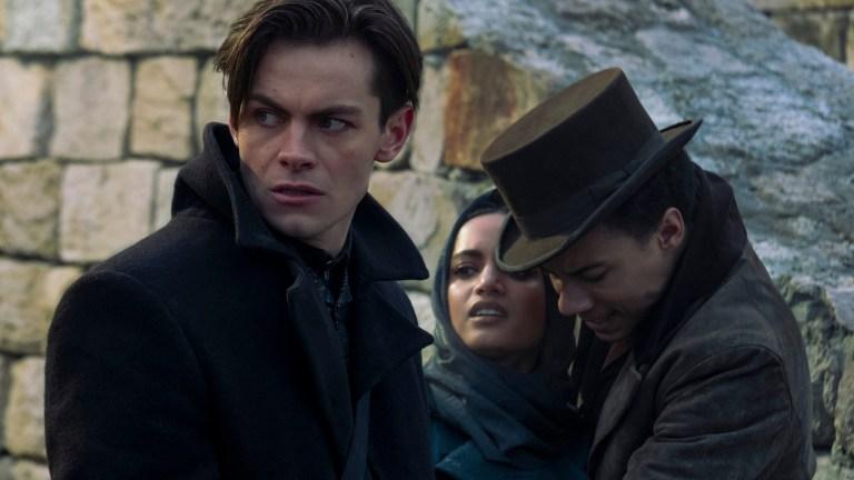 Kaz, Inej, and Jesper in Shadow and Bone