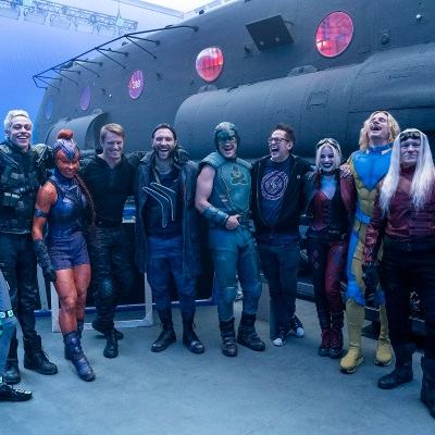 James Gunn and the cast of The Suicide Squad