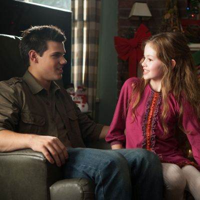 Jacob and Renesmee in Twilight: Breaking Dawn Part 2